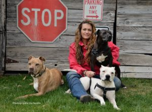 Traci with dogs